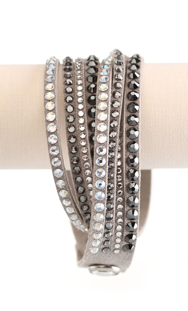 Swarovski Slake Wrap Bracelet, Mixed Size Light