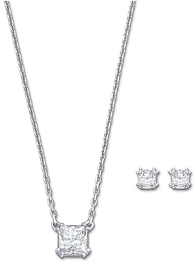Swarovski Attract Necklace and Pierced Earrings Set