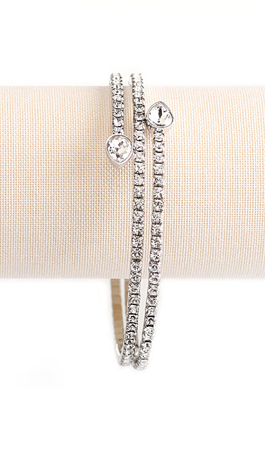 Swarovski Twisty Crystal Drop Bangle Bracelet