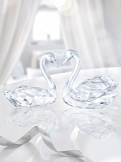 Swarovski Crystal, Swan Couple