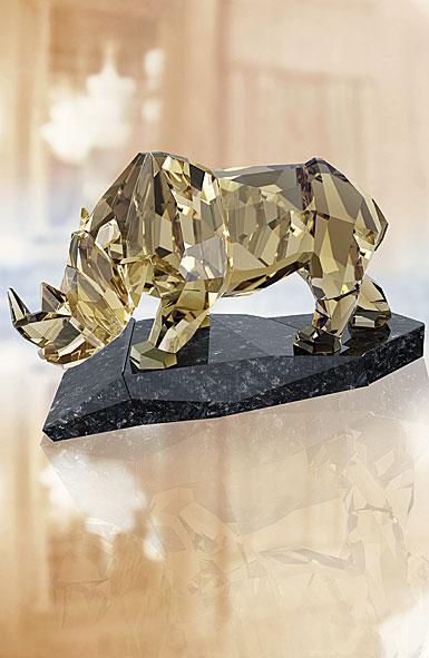 Swarovski Soulmates Rhinoceros Sculpture