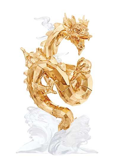 Swarovski Crystal, Noble Large Dragon Sculpture