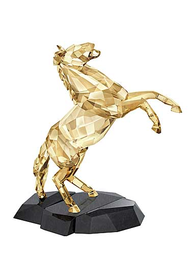 Swarovski Crystal, Soulmates Golden Shine Stallion Sculpture