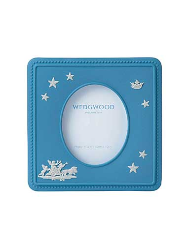 "Wedgwood China Jasperware 4 x 4"" Picture Frame"