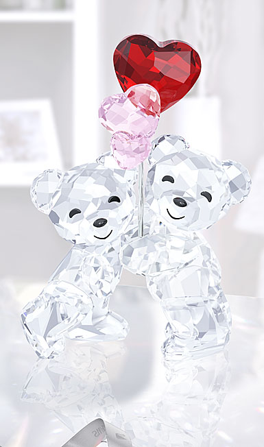 Swarovski Crystal, Kris Bear, Heart Balloons
