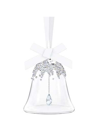 Swarovski Crystal, Christmas Bell Crystal Ornament, Small