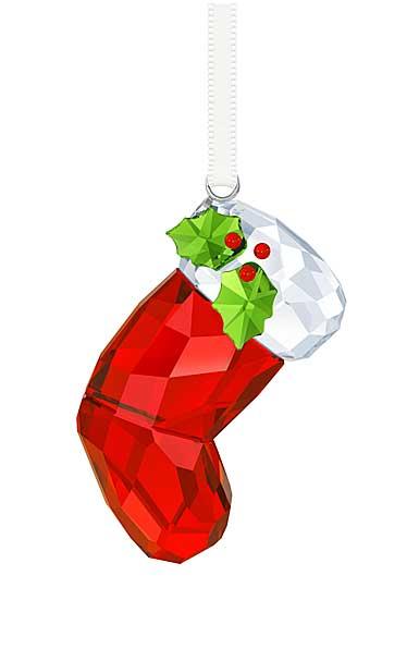 Swarovski Crystal, Santa's Stocking Crystal Ornament