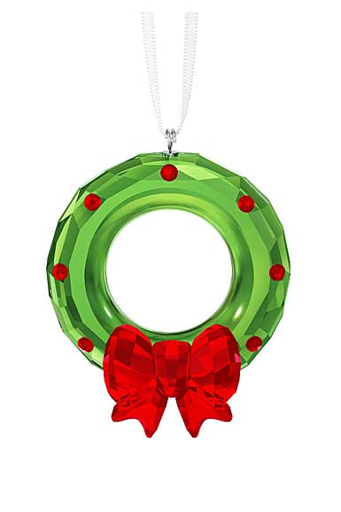 Swarovski Crystal, Christmas Wreath Crystal Ornament