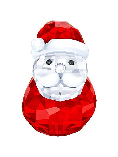 Swarovski Crystal, Rocking Santa Crystal Figure