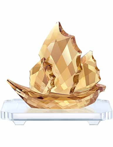 Swarovski Sailing Junk Boat, Golden Shine