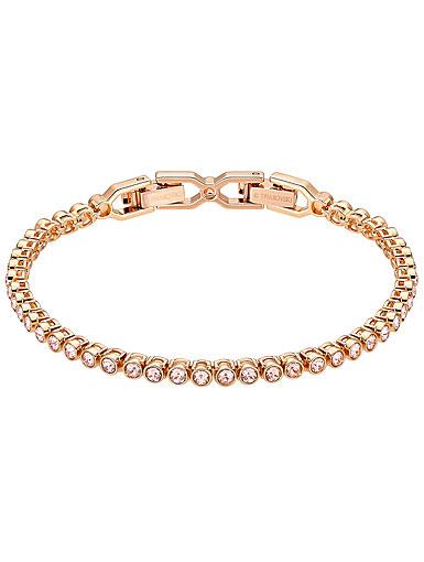 Swarovski Emily Pink and Rose Gold Tennis Bracelet