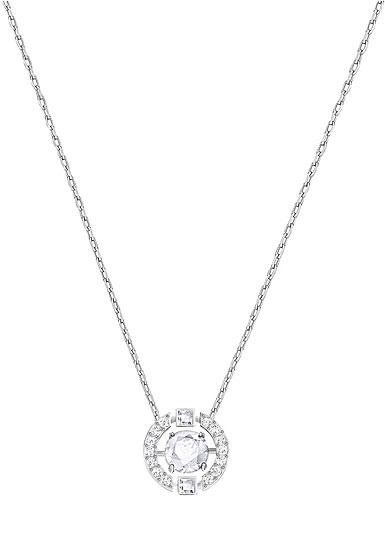 Swarovski Crystal and Rhodium Sparkling Dance Round Pendant Necklace 11d6b27c2d