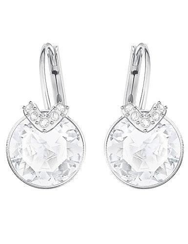 Swarovski Bella V Pierced Earrings, White, Rhodium