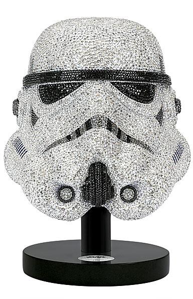 swarovski crystal  myriad star wars stormtrooper helmet  limited edition sculpture