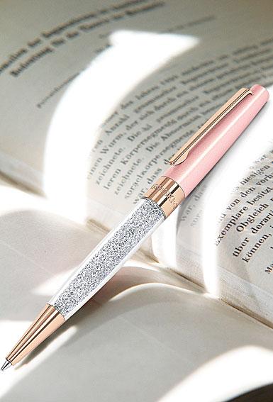 Swarovski Crystalline Stardust Ballpoint Pen, Pink Rose Gold Plated