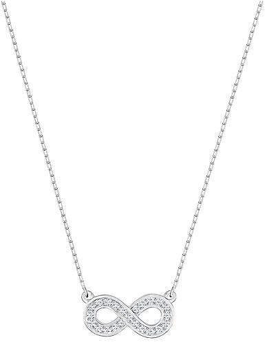 Swarovski Crystal and Rhodium Infinity Pendant Necklace