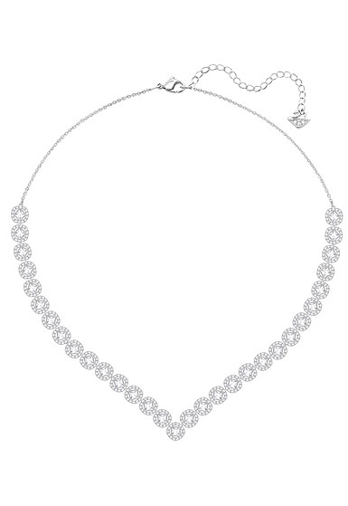 Swarovski Angelic Square Necklace, White, Rhodium