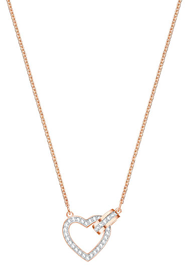 Swarovski Lovely Heart Crystal Rose Gold Pendant Necklace