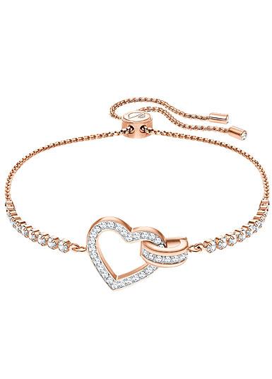 Swarovski Lovely Heart Crystal Rose Gold Bracelet