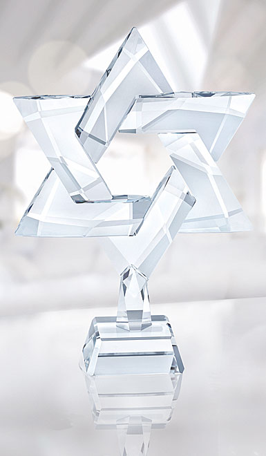 Swarovski Crystal, Star of David Sculpture