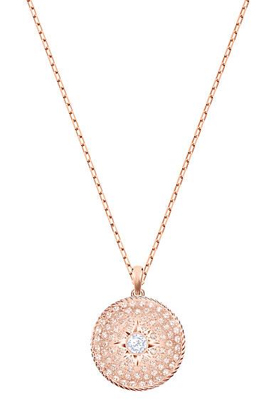 Swarovski Pink and Rose Gold Locket Pendant Necklace