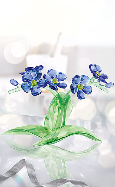Swarovski Crystal, Paradise Forget Me Not Crystal Sculpture