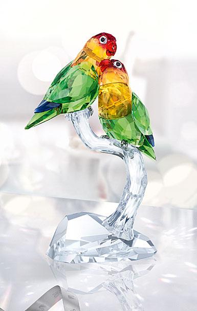 Swarovski Crystal, Lovebirds Sculpture