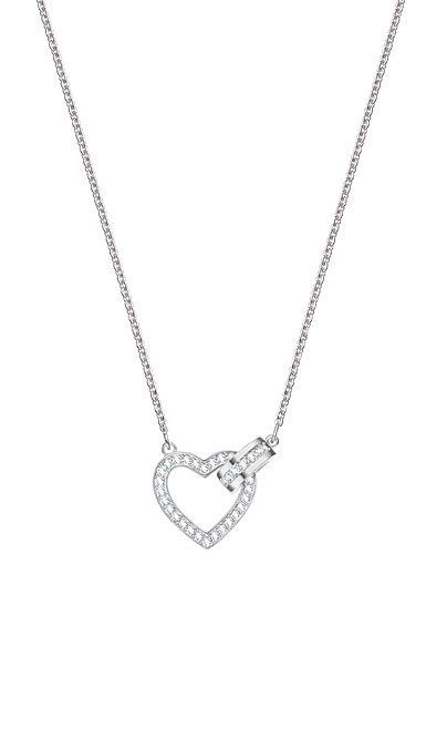 Swarovski Lovely Heart Crystal Rhodium Pendant Necklace