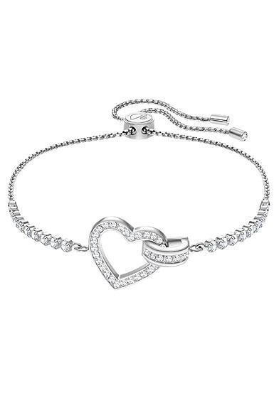 Swarovski Lovely Heart Crystal Rhodium Bracelet