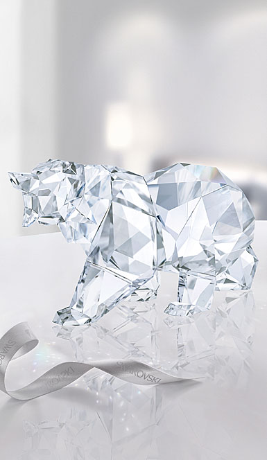Swarovski Crystal, Bear Sculpture By Arran Gregory, Crystal