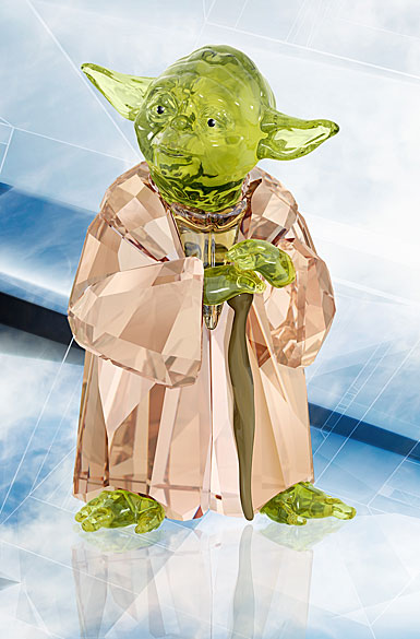 Swarovski Crystal Star Wars Master Yoda Sculpture