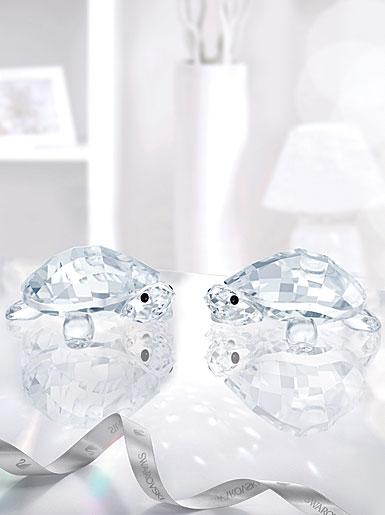 Swarovski Crystal Baby Tortoises Figurines Pair