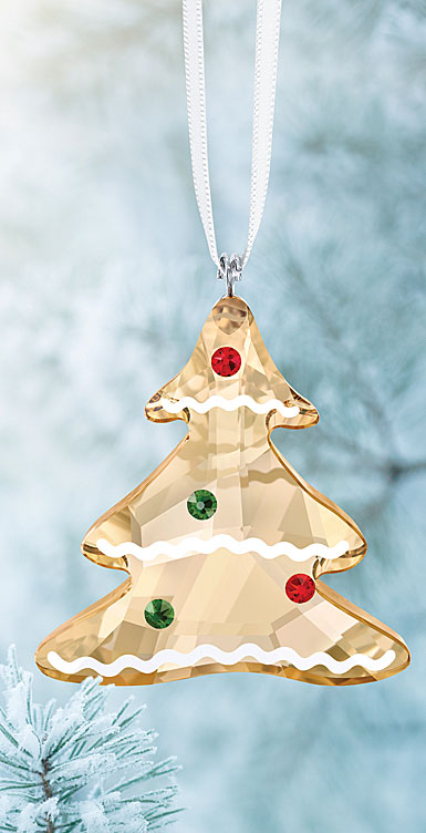 Swarovski Crystal, 2018 Gingerbread Tree Christmas Ornament
