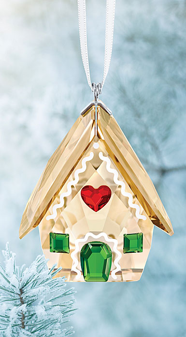 Swarovski Crystal, Gingerbread House Christmas Ornament