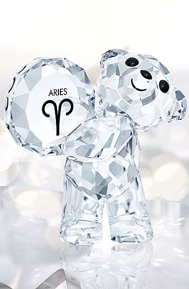 Swarovski Crystal, Kris Bear Horoscope Aries Crystal Sculpture