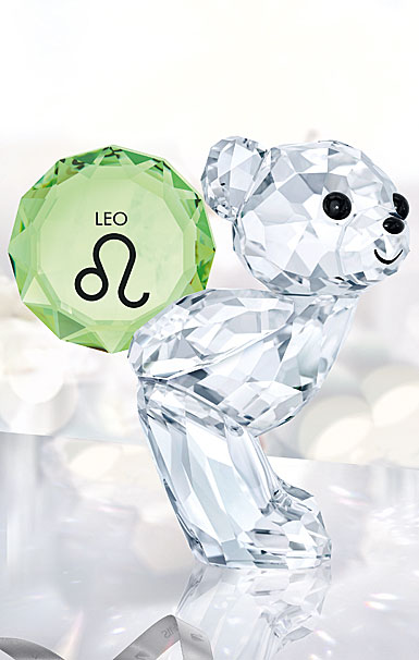 Swarovski Crystal Kris Bear Horoscope Leo Sculpture