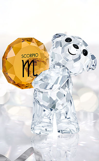 Swarovski Crystal, Kris Bear Horoscope Scorpio Crystal Sculpture
