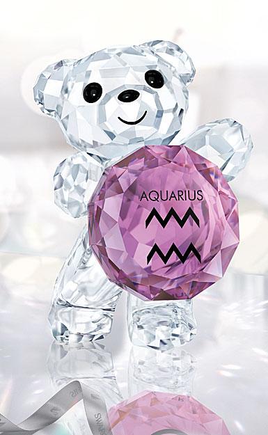Swarovski Crystal Kris Bear Aquarius Horoscope Sculpture