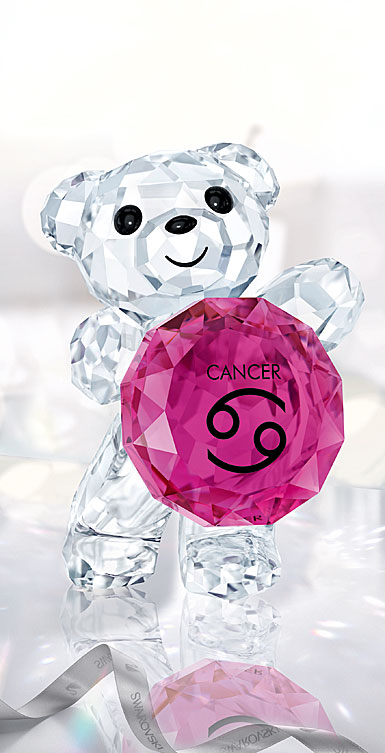 Swarovski Crystal Kris Bear Horoscope Cancer Crystal Sculpture
