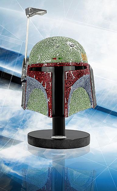 Swarovski Crystal, Star Wars Boba Fett Helmet Myriad Limited Edition Sculpture