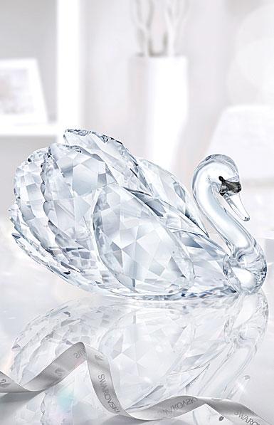 Swarovski Crystal Graceful Swan Sculpture