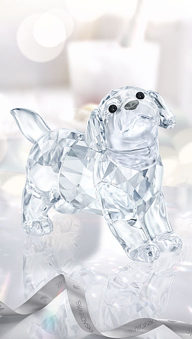 Swarovski Crystal Standing Labrador Puppy Figurine