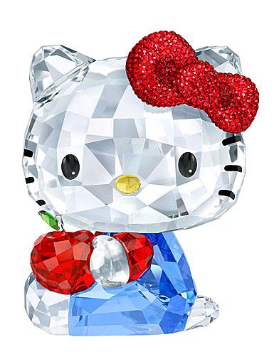 Swarovski Crystal, Hello Kitty Red Apple Sculpture