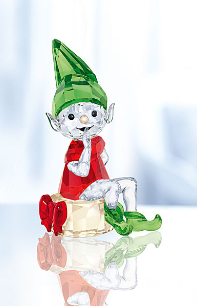 Swarovski Crystal, Santa's Elf Figurine