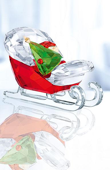Swarovski Crystal, Santa's Sleigh Figurine