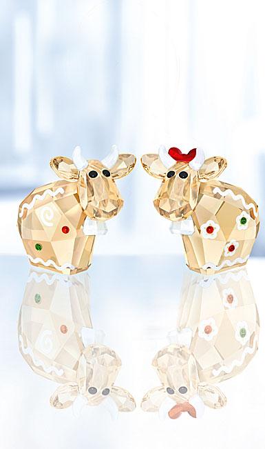 Swarovski Crystal, 2018 Gingerbread Mo Pair, Limited Edition