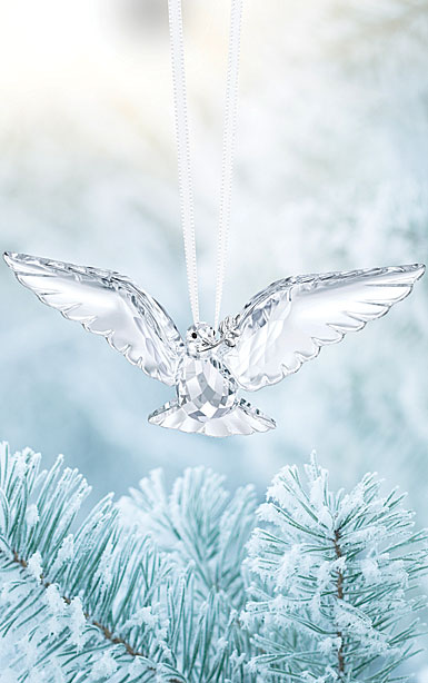 Swarovski Crystal, Peace Dove Christmas Ornament
