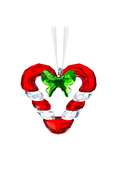 Swarovski Joyful Candy Cane Heart Ornament 2019
