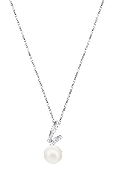Swarovski Gabriella Pearl Crystal White Rhodium Pendant Necklace