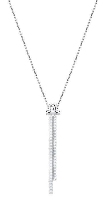 Swarovski Lifelong Y Crystal Rhodium Pendant Necklace